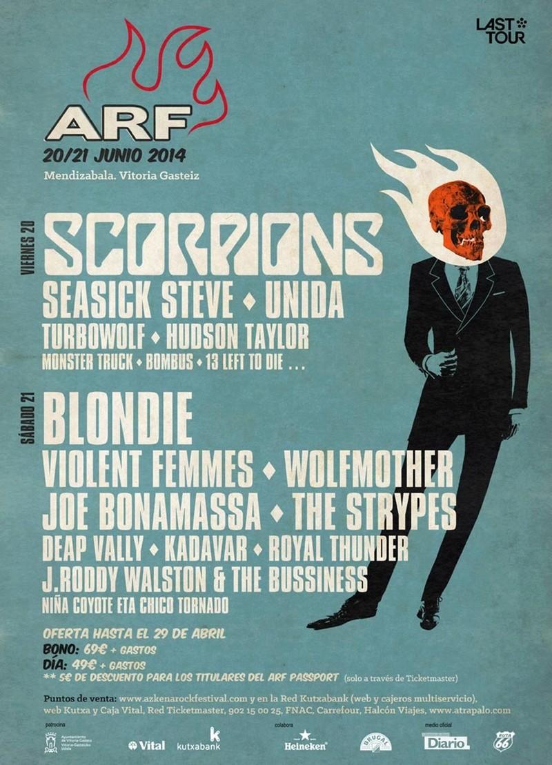 Agenda de giras, conciertos y festivales 201410