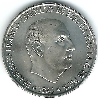 100 pesetas 1969 *1969   palo curvo 6910