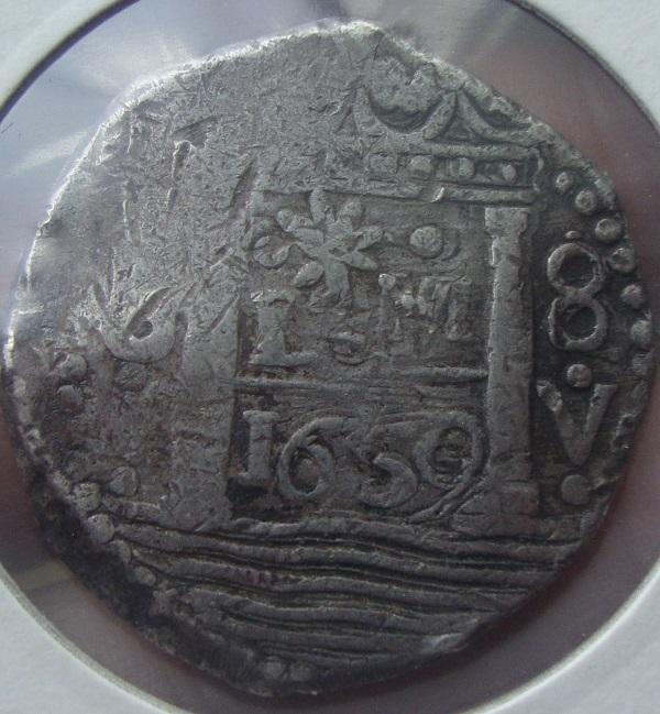 8 reales de lima 1659 , Felipe IV  Dsc05110
