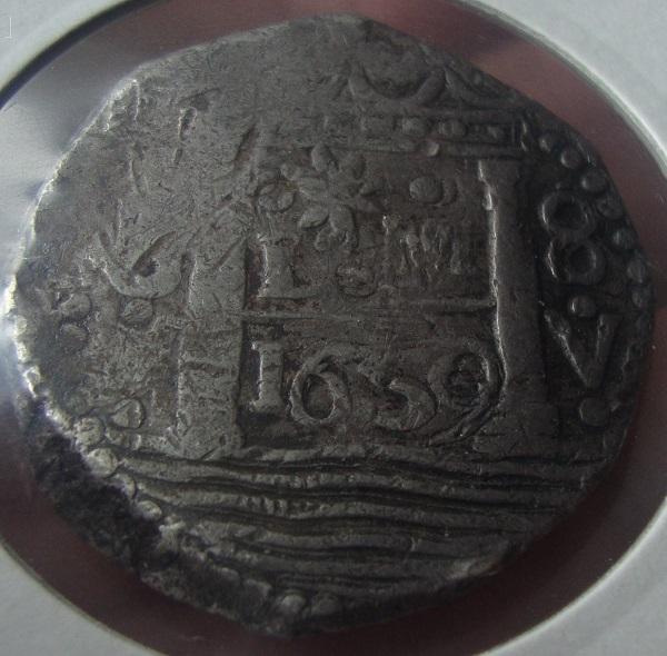 8 reales de lima 1659 , Felipe IV  Dsc05111
