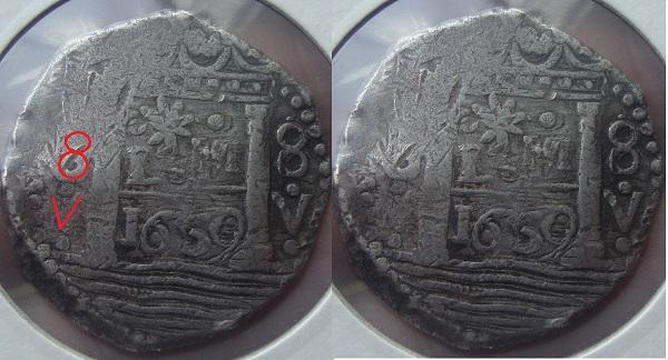8 reales de lima 1659 , Felipe IV  Dscwpg10