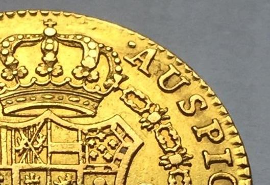 """2 escudos 1790 Carlos IIII Madrid dedit """"a los que me enseñaron todo lo que se"""" gracias  Img_8211"""