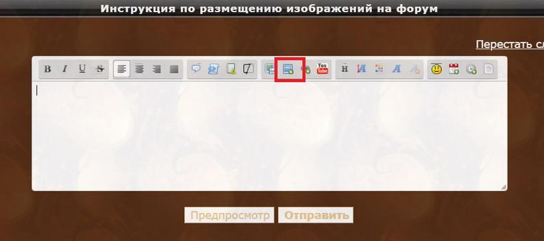 Инструкция по размещению изображений и видео на форум 119