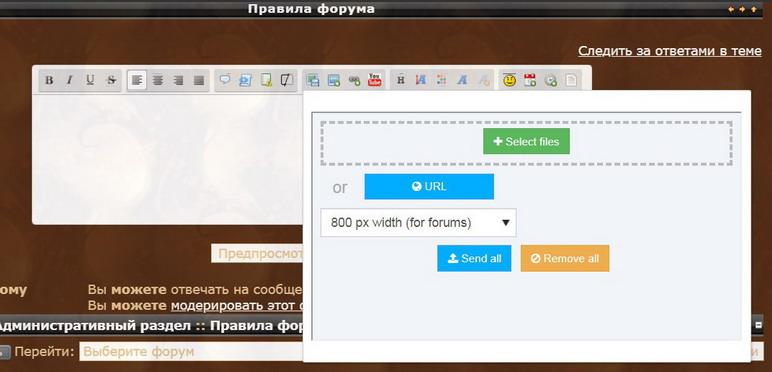 Инструкция по размещению изображений и видео на форум 220
