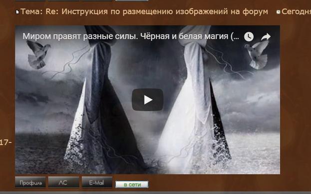 Инструкция по размещению изображений и видео на форум 615