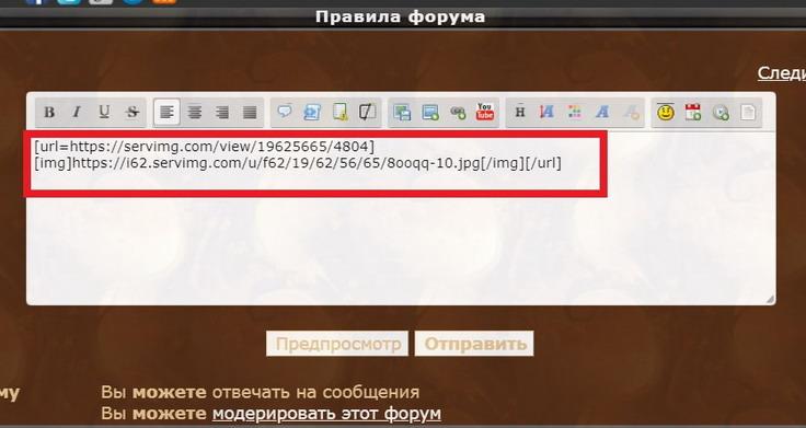Инструкция по размещению изображений и видео на форум 713