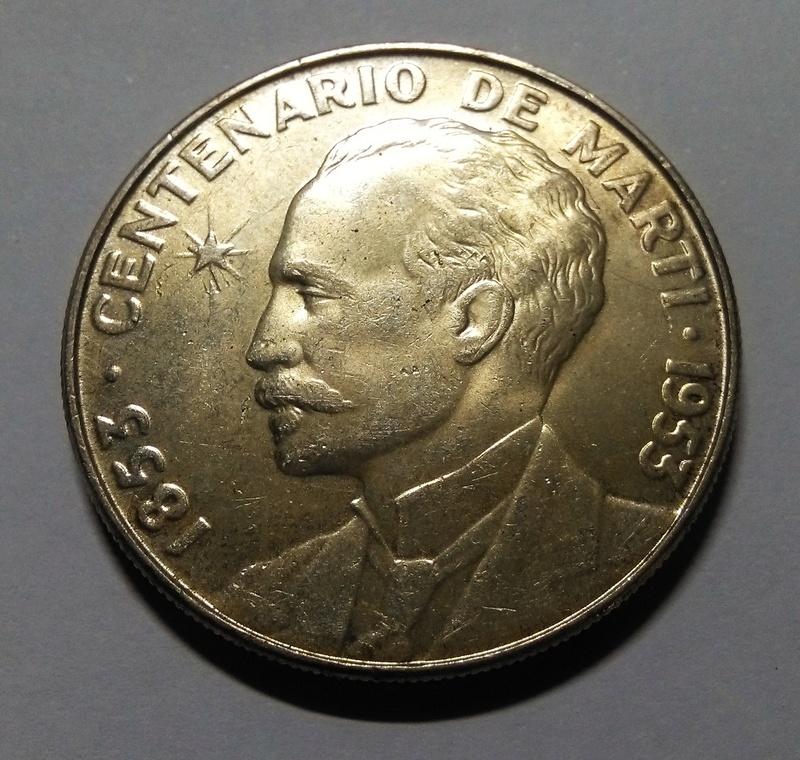 1 Peso (Centenario de José Martí). Cuba. 1953 Img_2021
