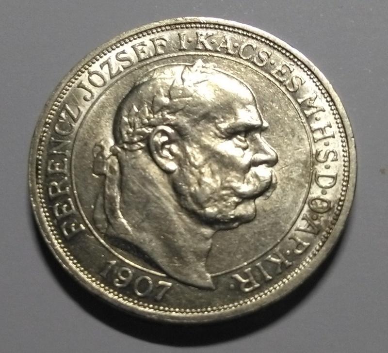 HUNGRÍA: 5 Coronas, Francisco José I, 1907 Img_2076