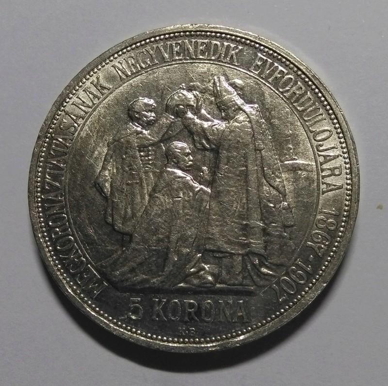 HUNGRÍA: 5 Coronas, Francisco José I, 1907 Img_2077