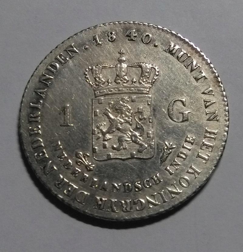 INDIAS HOLANDESAS: 1 Gulden, 1840 ´- Guillermo I Img_2115