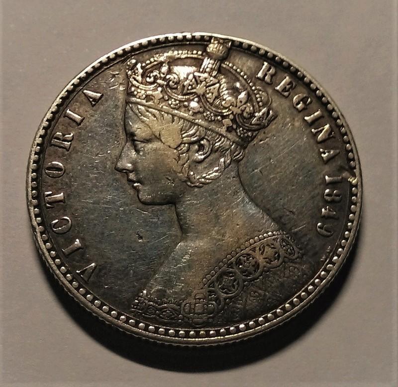 UN FLORÍN, 1849 - Reina Victoria, Gran Bretaña. Img_2136