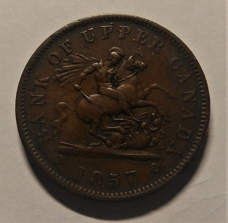 UN PENIQUE - Banco del Alto Canadá, 1857 Img_2152