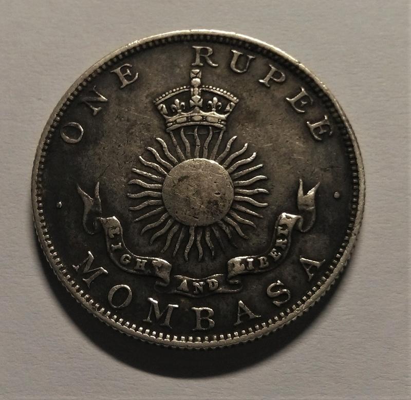 UNA RUPIA - Mombasa, 1888 - Compañía Británica del África Oriental Img_2163