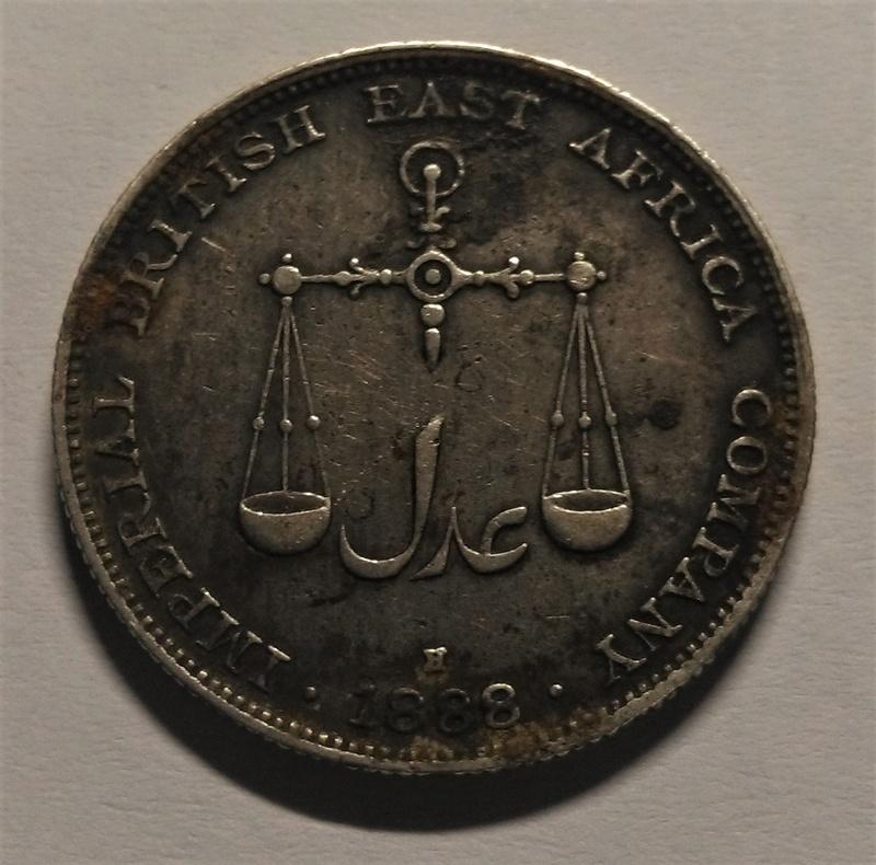 UNA RUPIA - Mombasa, 1888 - Compañía Británica del África Oriental Img_2164