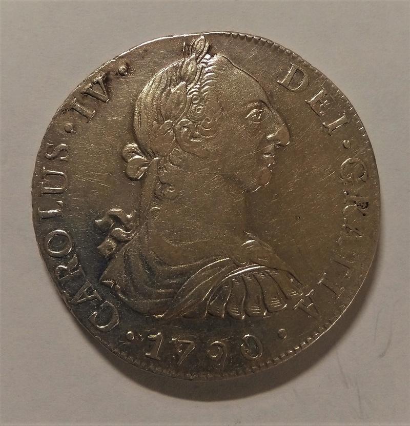 8 Reales 1790. Carlos IV. Guatemala. Busto de Carlos III Img_2169