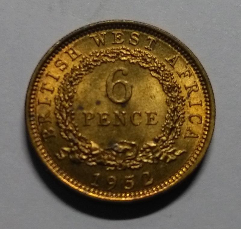 6 Peniques - Jorge VI - África Occidental Británica, 1952 Img_2190