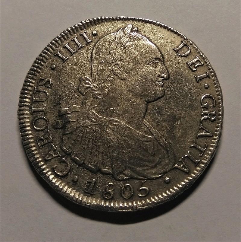 8 Reales 1805. Carlos IV. Santiago de Chile Img_2191