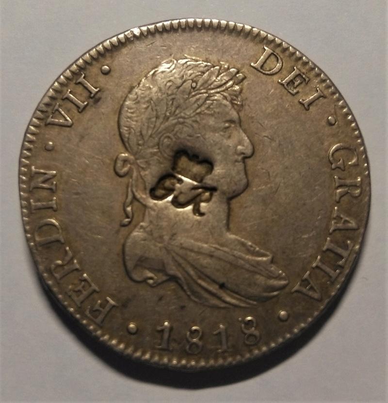 8 reales 1818. Fernando VII. Méjico. Resello GR (Belize) Img_2248