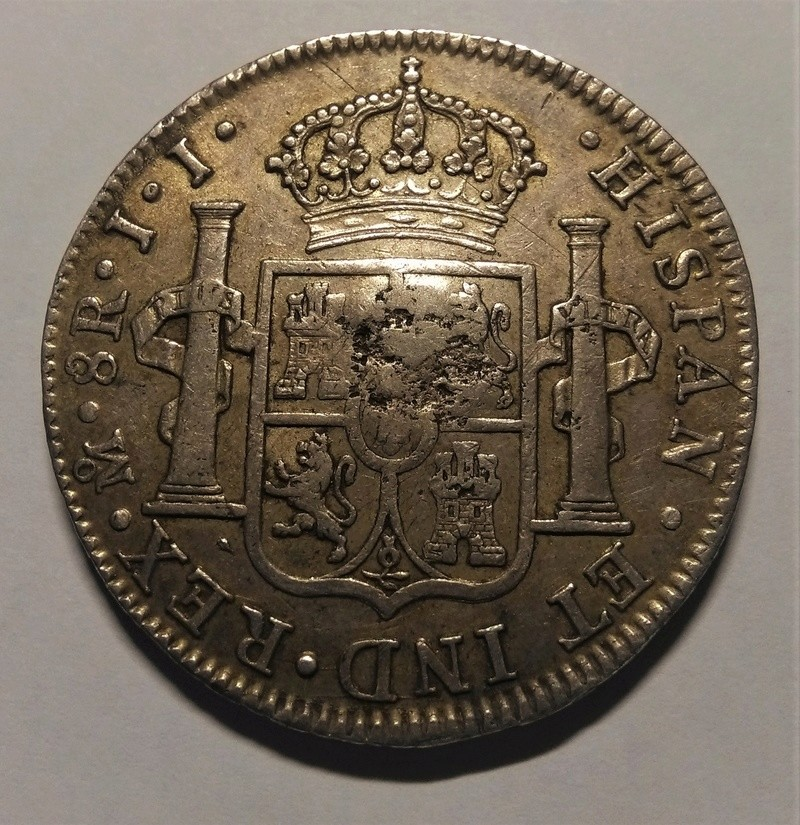 8 reales 1818. Fernando VII. Méjico. Resello GR (Belize) Img_2249