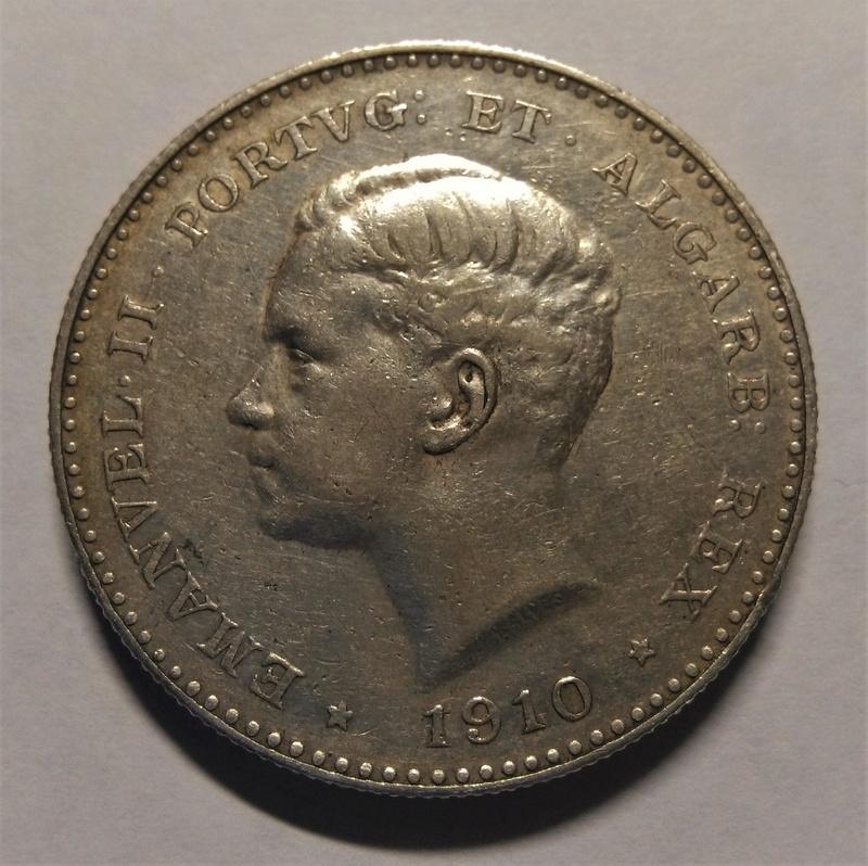 1910 - 1000 Reis de Manuel II - Portugal, 1910 Img_2276