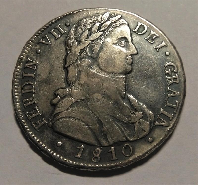 8 Reales 1810. Fernando VII. Santiago de Chile. Busto Almirante Img_2279