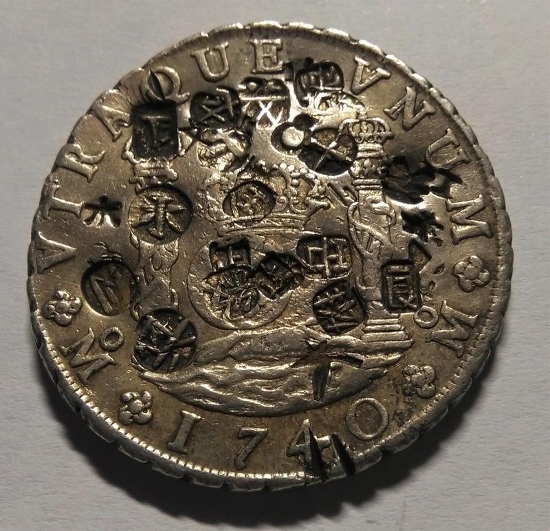 8 Reales de Felipe V - México, 1740, con múltiples resellos chinos Img_2282