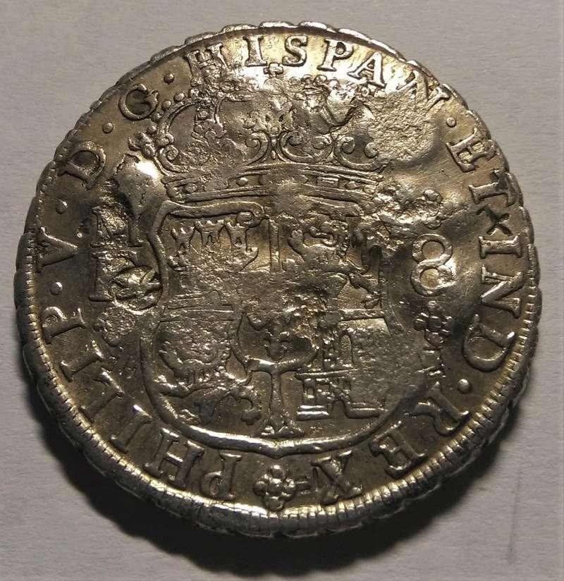 8 Reales de Felipe V - México, 1740, con múltiples resellos chinos Img_2283