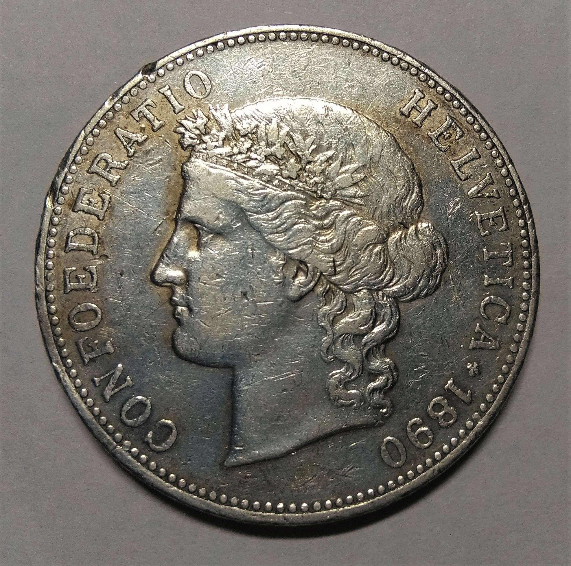 5 Francos - Suiza, 1890 Img_2292