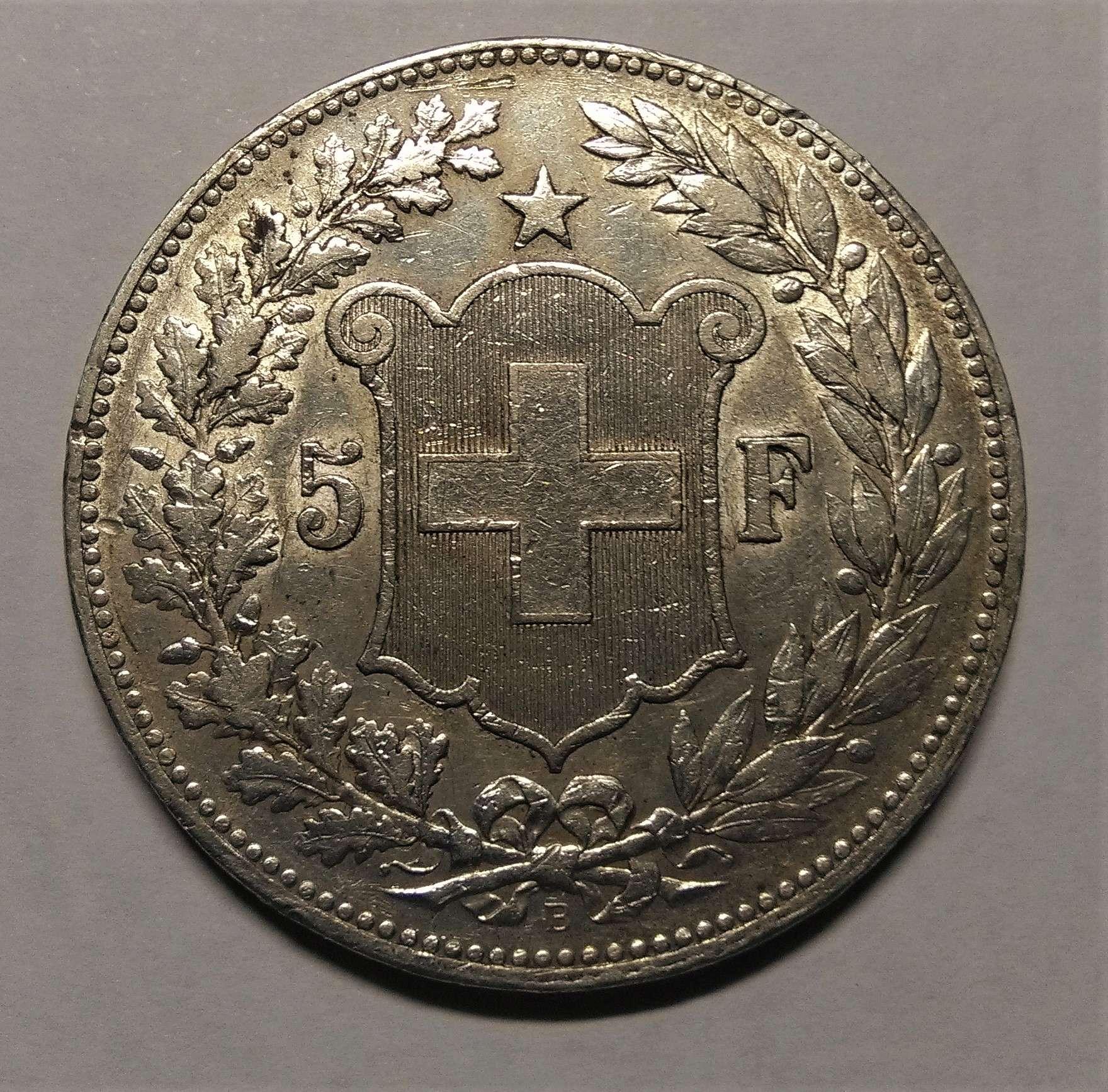 5 Francos - Suiza, 1890 Img_2293