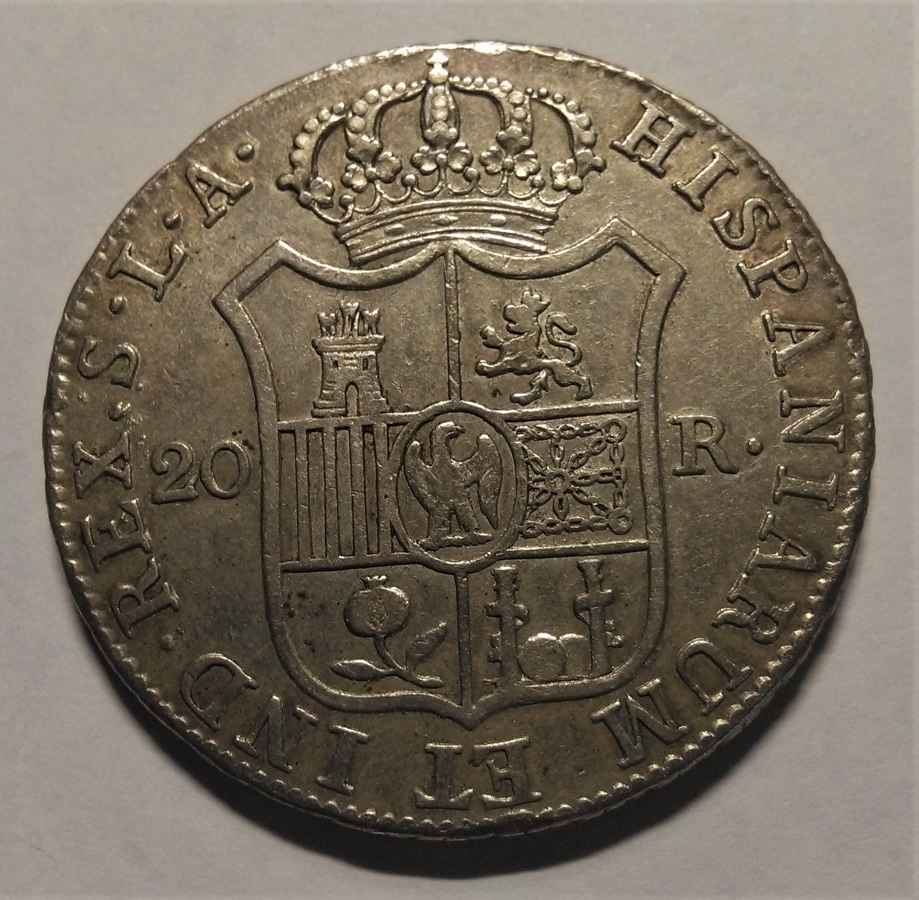 20 reales 1812. José Napoleón. Sevilla Img_2295