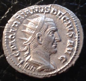 Antoniniano de Trajano Decio. DACIA. Dacia estante a izq. Roma. 20160214