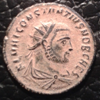 Radiado post-reforma de Constancio I Cloro. CONCORDIA MIL-ITVM. Emperador y Júpiter. Antioquía 20171114