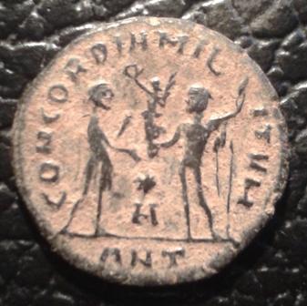 Radiado post-reforma de Constancio I Cloro. CONCORDIA MIL-ITVM. Emperador y Júpiter. Antioquía 20171115