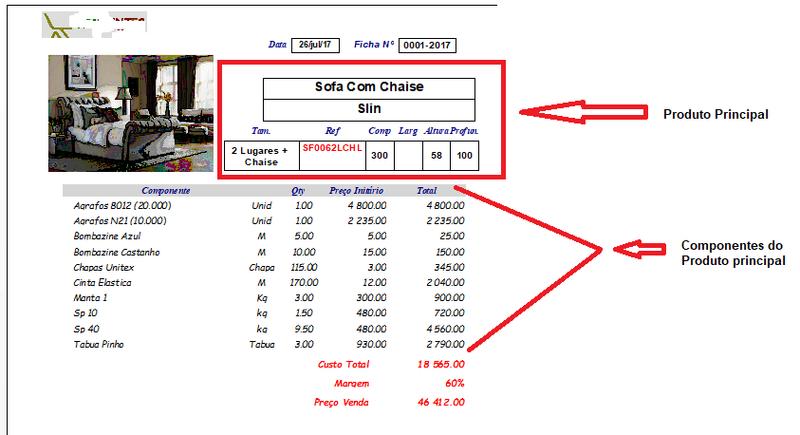 Relatorio de produtos com os custos Produt10