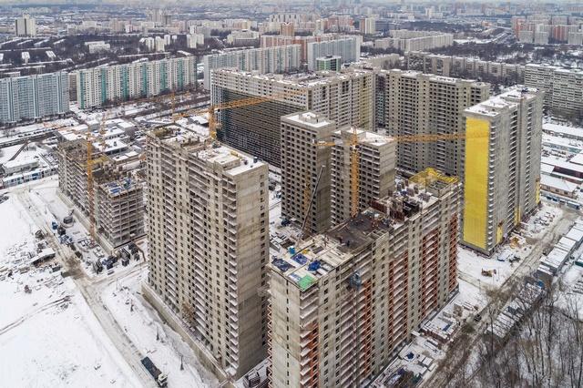"""На ЖК """"Летний сад"""" - начался монтаж фасадных конструкций! Теплозвукоизоляция под ними - лучше, чем у соседнего ЖК """"Город"""" Shih0k12"""