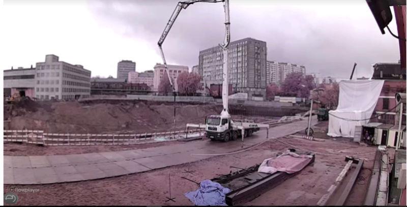 """Заливка первого бетона на ЖК """"Серебряный фонтан"""" U076j810"""