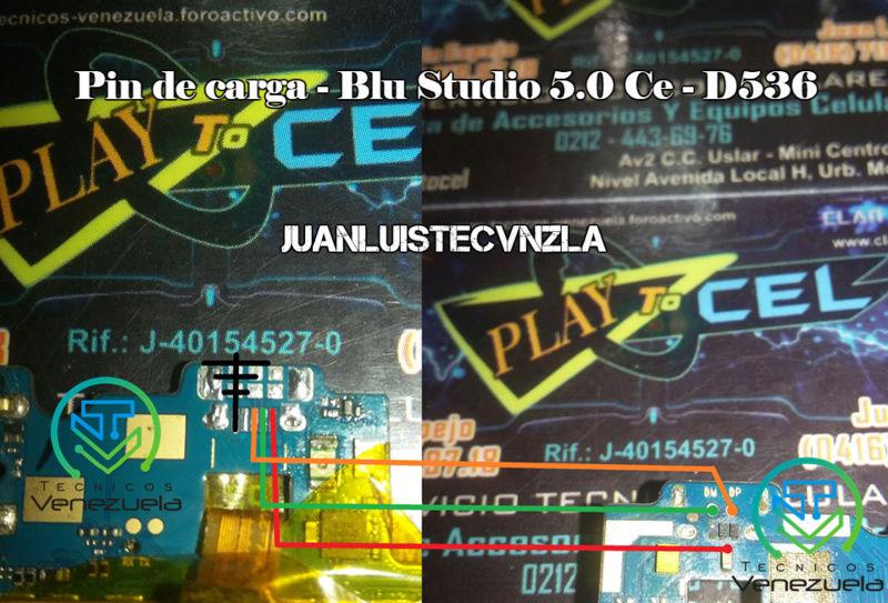 Pistas de Carga Blu Studio 5.0 Ce - D536 Pin_de10