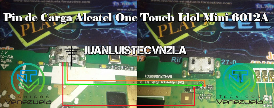 Pistas de Carga Alcatel One Touch Idol Mini 6012A Pin_de11