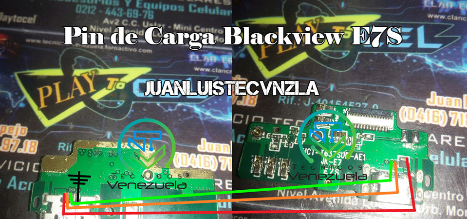 Pistas de Carga Blackview E7S Pin_de12