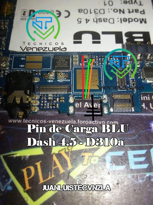 Pistas de Carga BLU Dash 4.5 - D310a Pin_de13