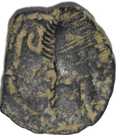 Dicalco de Bronce de Malichus II. Gobernante Nabateo. 40-71 d.C.Rara doble acuñacion 31610