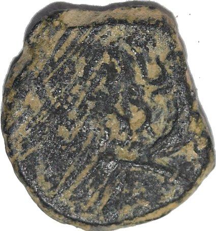 Dicalco de Bronce de Malichus II. Gobernante Nabateo. 40-71 d.C.Rara doble acuñacion 316a10