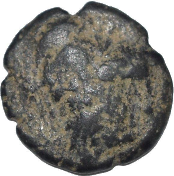 AE17 de Aretas II. Petra 31910