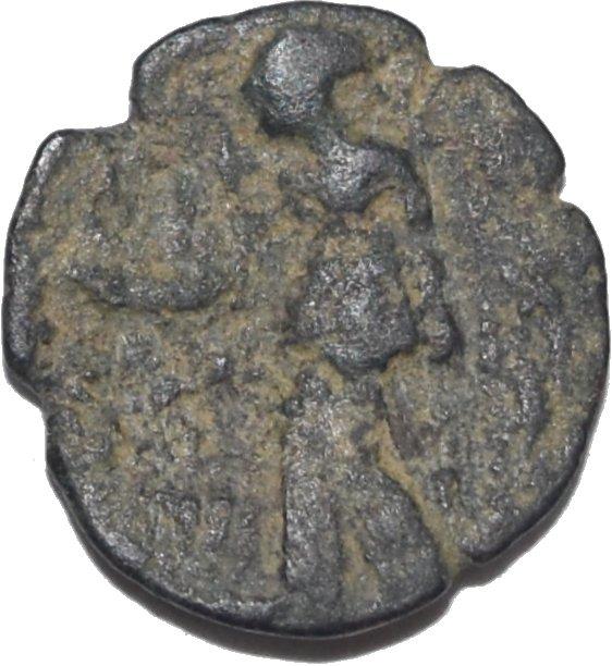 AE17 de Aretas II. Petra 319a10