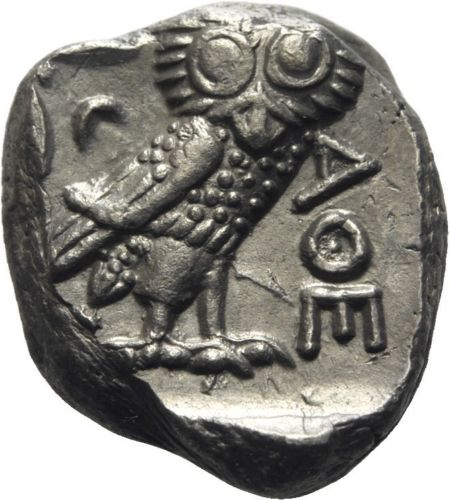 atenas - Mesopotamia, Tetradracma del Satrapa Mazakes. 331-320 a.C. Imitando los Tetradracmas de Atenas 32511