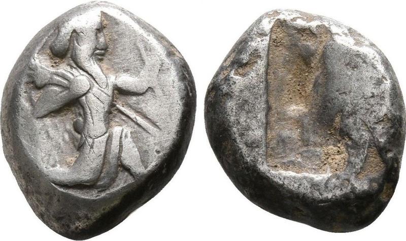 Siclo Aquemenida de Artaxerxes I - Artaxerxes II, c. 450 - 375 a. C. 34511