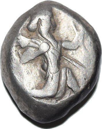 Siclo Aquemenida de Artaxerxes I - Artaxerxes II, c. 450 - 375 a. C. 345a10