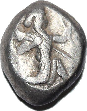Siclo Aquemenida de Artaxerxes I - Artaxerxes II, c. 450 - 375 a. C. 345a11