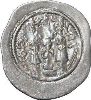 Dracma de Hormazd IV. Año 8 Ceca ShY 350a10