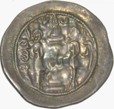 Dracma de Hormazd IV. Año 12 Ceca BN 378a10